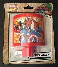 NIGHT LIGHT Spider-Man Captain America Falcon retro style Marvel nightlight NEW