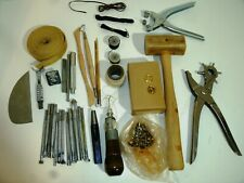 Vintage Leather Embossing Stamps and Tools and Grommets