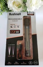 Bushnell 2000 Lumens Rechargeable Flashlight 2 Modes Lithium Ion Battery Include