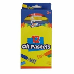 Grafix Oil Pastels Arts Crafts Children Adults Colour Drawing - Pack of 12