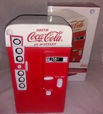 Coca Cola Coke Vending Machine Snack Cookie Jar Gibson Stoneware in Box 2001 GUC