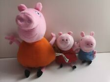 "Plush - 7"" Peppa Pig, 6"" George and 12"" Mummy Pig - PMS (397)"