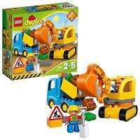 LEGO 10812 Duplo Town Truck & Tracked Excavator Preschool Construction Toy Set