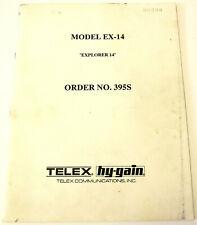 TELEX / HY-GAIN Model EX-14 ASSEMBLY & TUNING MANUAL 395S Ham Radio Beam Antenna