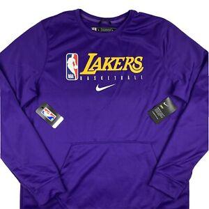 Nike Dri-Fit LA Lakers Practice Long Sleeve Sweatshirt Men Large Tall AV1389