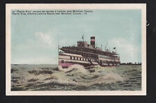 vintage boat Rapids King near Lachine Rapids Montreal Canada ship postcard