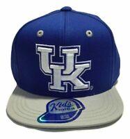 NCAA Kentucky Wildcats Baseball Hat Cap, Kids Boys, Flat Brim Snap, Royal Blue