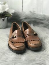 Bass Womens Loafers Shoes Brown Size 7.5 Leather Slip On Comfort