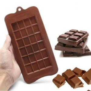20Pcs 24 Grids Chocolate Mold Bar Block Ice Silicone Cake Bake Mould Decor Tools