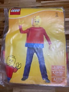Kids LEGO Guy Classic Costume Size Small 4/6 Red Disguise Brand