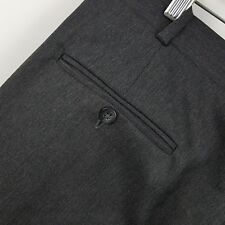 Nordstrom by JB Britches Pleated Dark Gray Charcoal Men's Dress Pants Sz 32 x 31