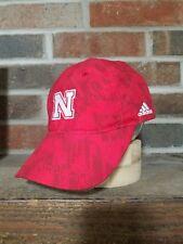 pretty nice ae193 9c6ef adidas Nebraska Cornhuskers Official Sideline Mesh Trucker Snapback Cap Hat