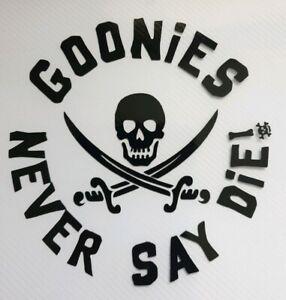 1x Goonies Vinyl Sticker Decal Graphic Car Camper 80's Vanlife Bumper 4in Black