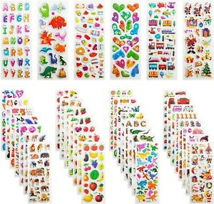FUNSO 3D Stickers for Kids, Puffy Stickers 950+ Children Stickers 36 Variety ...