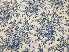 Laura Ashley Bedford Blue Floral Toile Pillow Sham, Standard, Euc