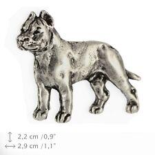 Cane Corso, silver covered pin, high quality Art Dog USA