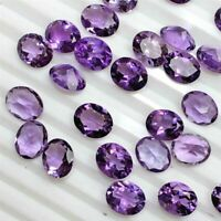 NATURAL PURPLE AMETHYST 4X5 MM OVAL CUT FACETED LOOSE AAA GEMSTONE LOT