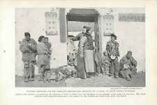 1917 Chinese Inspector And Assistant Distributing Clothing To Famine Sufferers