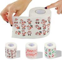 Home Santa Claus Bath Toilet Roll Paper Christmas Supplies Xmas Decor J4A3