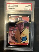 MARK MCGWIRE 1987 DONRUSS #46 RATED ROOKIE PSA 8 NM-MT