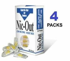 4 Packs NIC OUT Cigarette Filters 120 Tips Filter Out Tar & Nicotine Helps Quit