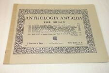Anthologia Antiqua for Organ Book Two 17th + 18th cent. masters