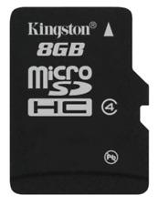 Kingston 8GB Micro SD™ Speicherkarte HC Card Class 4 FAT 32 ohne Adapter NEU OVP