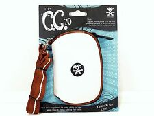 "NEW Crumpler  ""The C.C. 70""  Chicken Tex Case - Ultra White / Rust Brown"