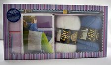 Lion Brand Scarf Knitting Kit - Yarn+Needles+Instructions +Pattern - New Sealed