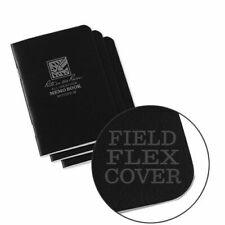 Rite in the Rain 3.25x4.625 Mini-Stapled Notebook, Black, 3-Pack, New