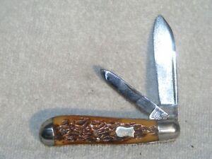 Vintage Bone Keen Kutter Dog Leg Knife - 1870 - 1940