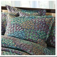 Set of 2 Quilted Cuddledown Peacock Shams