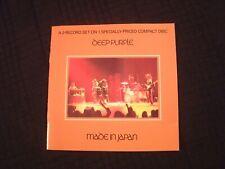 Deep Purple - Made In Japan - 1973 CD / VG+/ Ian Gillian / Prog Hard Rock Metal