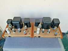 Pair Vintage Heathkit W4 mono tube amplifiers restored