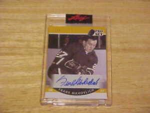 Frank Mahovlich 2020-21 Pro Set Memories AUTO 1/3  Montreal Canadiens