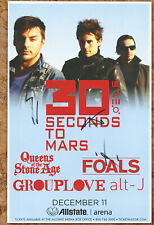Thirty Seconds To Mars autographed gig poster Jared Leto, Shannon Leto, Tomo