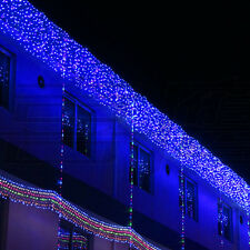 Christmas Blue 300 LED water flow waterfall decoration Lights String 6*1.5M L49B