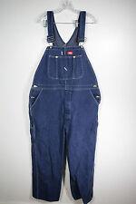 Dickies Blue Jean Denim Overalls Size 42x30 Work Pants