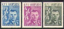 Albania Yuri Gagarin 1962/vuelo espacial/cohetes/Astronautas/personas 3v Set (n38527)