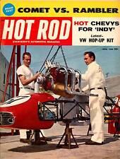 HOT ROD JUNE 1960 V8 CHEVY INDIANAPOLIS INDY,COMET VS RAMBLER,HOTROD MAGAZINE