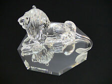 Swarovski Crystal 1995 Scs The Lion w/Case, Box, Coa and Mirror Stand/Mint