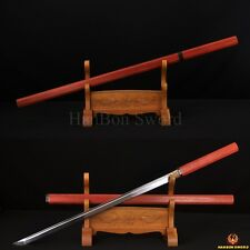 HIGH QUALITY HANDMADE ZATOICHI JAPANESE NINJA SWORD CLAY TEMPER BLADE CanCutTree