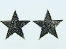 Mens/Ladies Star Shape Black Diamond Xl Stud Earrings