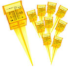 "Ten Pack of 1.5"" Rain and Sprinkler Gauge Wide Mouth Bright Yellow Outdoor Gauge"