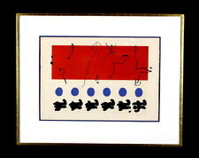 JOAN MIRO - CIEL ROUGE / RED SKY C.1960 SIGNED AND NUMBERED LITHOGRAPH