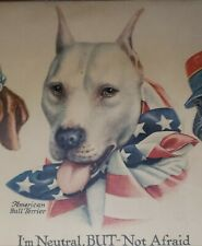 Antique American Pitbull French English Bulldog Dachshund Russian Wolfhound Art
