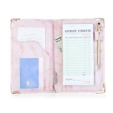 Sonic Server Book Pink Marble Organizer Waitress Waiter 9 Pocket with Zipper
