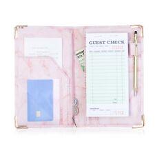 Sonic Server Book Pink Marble Organizer Waitress Waiter 9 Pocket With Zipper