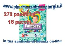 272 COUCHES PAMPERS BÉBÉ DRY TG.5 JUNIOR (11-25 KG) 16 PILES DE 17 PCS CHAQUE UD
