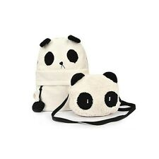 Women Girl Panda Mother & Baby Shoulder Backpack Handbags Fashion Bag Set CA